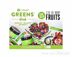 Greens have gotten Greener!!!  NEW GREENS FORMULA!!!!!!!! ✅ Allergen Free ✅Dairy and Lactose Free ✅Soy Free ✅Vegan ✅Non- GMO ✅ 2.5x as many fruits ✅ Added Spirulina & Parsley ✅ 4x the fiber ✅ 55% MORE fruits &veggies