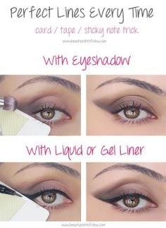 Get perfect cat eye lines or winged liner every time with this tip.
