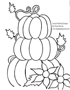 Pumpkin Topiary Painting - Step By Step Painting With Tracie Kiernan Painting Templates, Canvas Painting Tutorials, Painting Patterns, Diy Painting, Fall Canvas Painting, Autumn Painting, Autumn Art, Canvas Art, Pumpkin Topiary