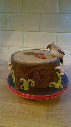 Waxwing Tree Stump Cake   Flickr