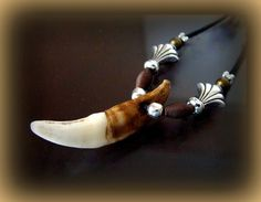 Real BLACK WOLF TOOTH Jewelry Pendant by BetsyStoinoffDesigns