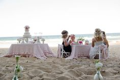 A tea party by the sea.