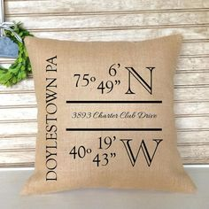 Doesn't have to be exact--just 4 or 5 durable burlap pillows