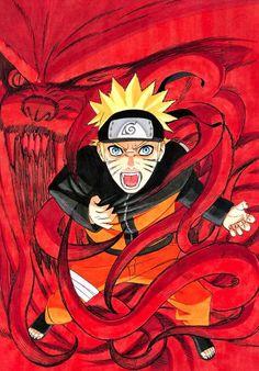 Naruto and Kurama, naruto, narutoshippuden, ninja, nove code Naruto Minato, Anime Naruto, Madara Uchiha, Hinata, Manga Anime, Art Naruto, Fanart Manga, Naruto Gaiden, Shikamaru
