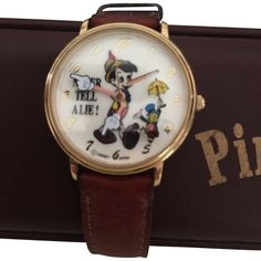 Disney Pinocchio Watch Disney Animated Growing Nose Never Tell Lie Dial Watch Vintage NIB by MrTicToc on Etsy Jiminy Cricket, Pinocchio, Disney Animation, Vintage Watches, Latest Fashion, Unique Jewelry, Handmade Gifts, Etsy, Accessories