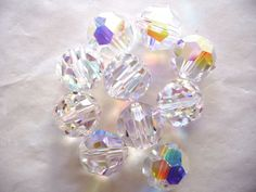 Free shipping 500pcs 4mm Rondelle Faceted Swaro//vsk Crystal Finding Spacer Beads