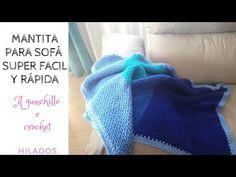 MANTA PARA SOFÁ SUPER FÁCIL Y RÁPIDA - YouTube Baby Supplies, Knitting, Blanket Crochet, Facebook, Ideas, Crocheted Afghans, Knitting And Crocheting, Scrappy Quilts, Mariana