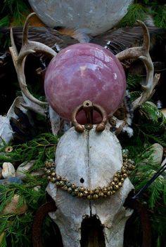 #gems #alter #ulantia #skull #antlers #magic #crystals #beauty #nature