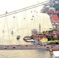 The Bosphorus Bridge, Istanbul. Most beautiful city in the Planet.