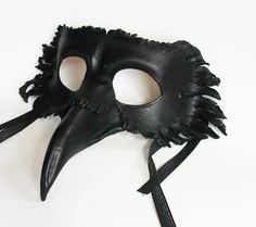 Leather Raven Mask.  Want.