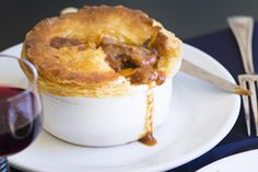 I have made a quick, rough puff pastry to encase the melt-in-the-mouth venison, … Rough Puff Pastry, Butter Puff Pastry, Puff Pastry Recipes, Pie Recipes, Venison Pie, Venison Recipes, Individual Pies, Thing 1, Egg Wash