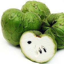 Chirimoya-una fruta deliciosa que yo come en Chile como una juga.
