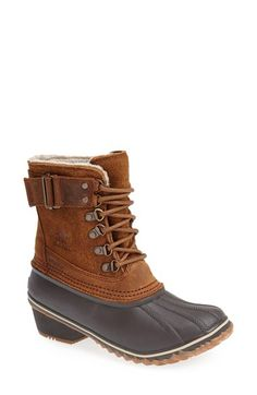 SOREL 'Winter Fancy II' Waterproof Lace-Up Boot (Women) available at color Elk- size 6 Duck Boots, Rain Boots, Shoe Boots, Shoes, Nordstrom Boots, Sorel Boots Womens, Ugg Boots Sale, Fancy, Winter Snow Boots