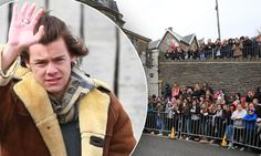 One Direction film new video on windy Clevedon Pier