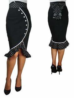 """Jupe Pin Up """"Bryanna"""" - Noire Sexy skirt. Fierce beyond fierce!"""