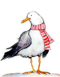 - Watercolor by Autumn Linde - Doodlewash Watercolor Christmas Cards, Watercolor And Ink, Watercolor Paintings, Happy Paintings, Footprints, Art Sketchbook, Bird Art, Sketchbooks, Felting