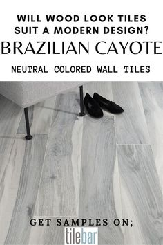If you've got a neutral-colored, contemporary, or minimalist aesthetic then a wood look tile can be just the thing to accent and highlight the elegance of your rooms. A gray tile such as the Brazilian Coyote will bring an exciting new attribute to your room with its unique style. The grain detail and elegant style are perfect for rooms that deserve a touch of class but want to support it with a contemporary feel.