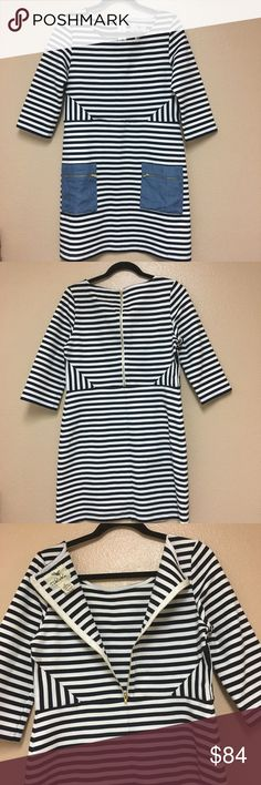 """🆕•Anthropologie Stripped Mixed Print Dress• Beautiful beautiful dress in excellent condition. This dress is a size 10 the length 34"""" Chest width is 17"""". Anthropologie Dresses"""