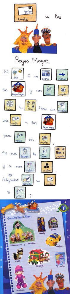 A simple printable Spanish story with pictures that explains los Reyes Magos. carta_reyes_magos