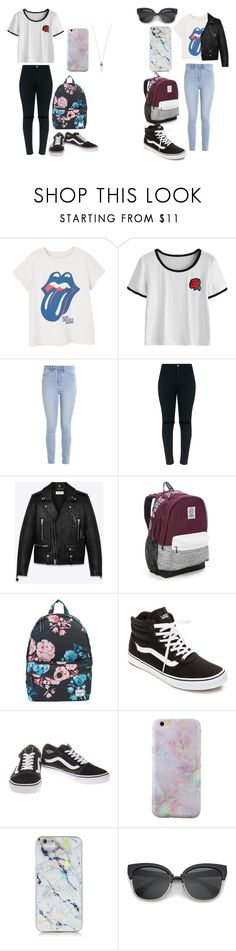 """""""S + M"""" by caitlinkansil on Polyvore featuring MANGO, Hollister Co., Yves Saint Laurent, Victoria's Secret, Herschel Supply Co., Vans and Marc Jacobs"""