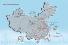 Chinese Electric Power Grid Network - HVAC Transmission - HVDC Transmission