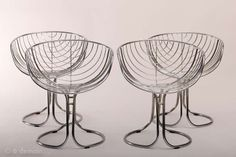 "4 Chrome ""Pan Am"" Chairs 