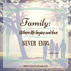 Family: Where life begins and love NEVER ENDS. -Unknown