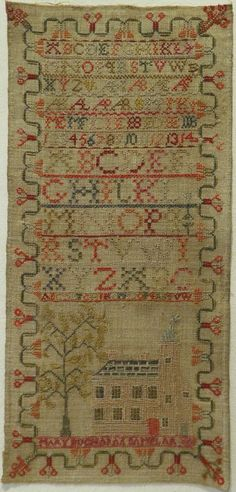 Early 19th Century House Alphabet Sampler by Mary Buchanan 1809   eBay