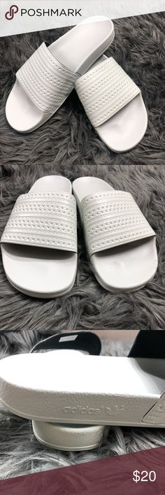 3fd45356ef0b0 Adidas Slides Grey Pale Blue Men s Size 10 Adidas Slides Grey Pale Blue  Men s