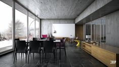 Winter house modern interior