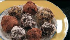 Chocolate Truffle Trio is a delicious trio of homemade truffle treats - rolled in cocoa, crushed walnuts or vegan powdered sugar. A crowd pleaser!