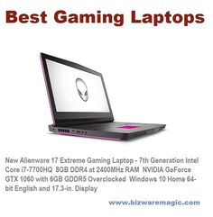 New Alienware 17 Extreme Gaming Laptop - 7th Generation Intel Core i7-7700HQ  8GB DDR4 at 2400MHz RAM  NVIDIA GeForce GTX 1060 with 6GB GDDR5 Overclocked  Windows 10 Home 64-bit English and 17.3-in. Display #alienware #newalienware17 #alienware17 #gaminglaptop #laptops