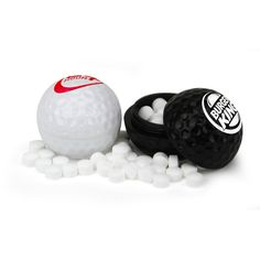 These golf ball mint containers are perfect for golf tournaments and golf enthusiasts!