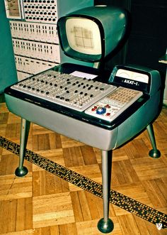 The polish made AKAT-1 from the 1960's was an analog computer rumored to have been used as a synth on Beatles recordings.