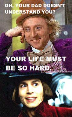 original Wonka vs. Depp Wonka.