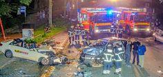 Frontalzusammenstoß in Horn. Die Hamburger Polizei verzeichnete bis Oktober 50.384 Unfälle