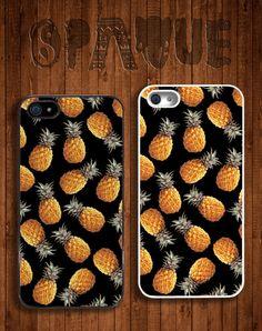Ananas retour Apple iPhone 5 s 5 & 4 s 4 dur Durable-affaire - plusieurs couleurs - Dope Hipster Indie Grunge Vintage Tropical Summer Tumblr