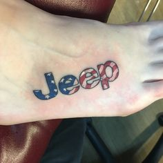 American Flag Jeep Tattoo