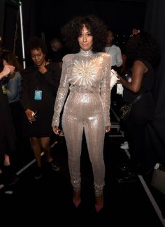 9 Tracee Ellis Ross vs. Laura Govan in Janta Miniau's Silver Sequined Jumpsuit