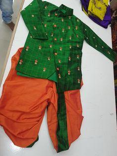 Baby Girl Dress Design, Baby Boy Dress, Baby Girl Dresses, Baby Boy Outfits, Kids Outfits, Baby Boy Ethnic Wear, Ethnic Wear For Boys, Kids Indian Wear, Kids Dress Wear