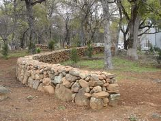 True dry stack stone fence - if only they would allow this in Southern California