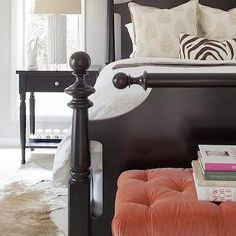 Coral Pink Bench, Transitional, bedroom, Erin Glennon Interiors