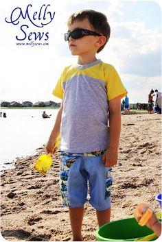 Melly Sews: boys swim Trunks Tutorial