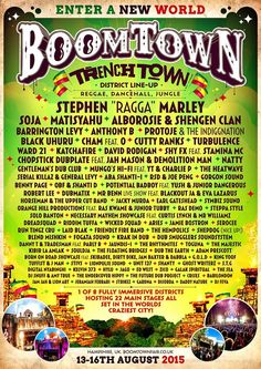 """""""It blows out minds that we are able to bring this kind of reggae line-up to the UK,"""" Boomtown Festival"""