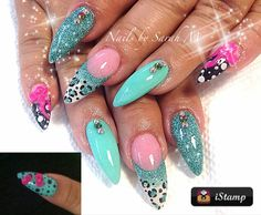Nailed it. Acrylic almond nails #stiletto #nAil art