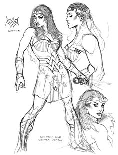 Today's Drawing Class 101: Female Anatomy | Golden Age WW (Hippolyta) designs by Adam Hughes