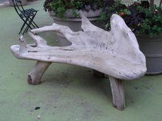 Unique Driftwood Bench
