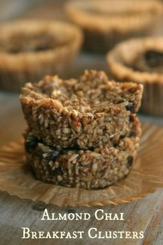 Almond Chai Breakfast Clusters plus 24 more gluten and dairy free breakfast recipes Dairy Free Recipes, Raw Food Recipes, Cooking Recipes, Gluten Free, Easy Recipes, Healthy Recipes, Delicious Recipes, Snack Recipes, Paleo Diet Breakfast