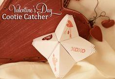 Great Kids Craft. Valentines Day Cootie Catcher