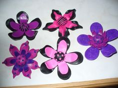 Polymer Clay Flower Brooches